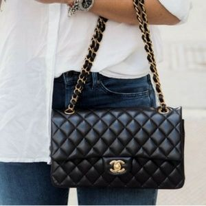 New Chanel Quilted Double Flap medium Handbag